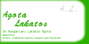 agota lakatos business card